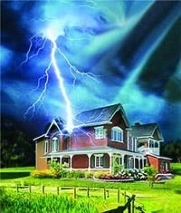 Молниезащита зданий, молниеприемник г.Саранск