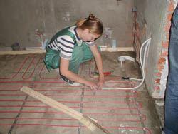Монтаж электрического теплого пола в Саранске. электрический теплый пол